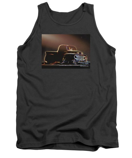Tank Top featuring the photograph Old Sketched Pickup by Jim Lepard