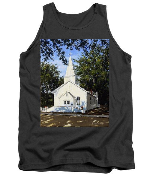 Tank Top featuring the painting Old St. Andrew Church by Rick McKinney