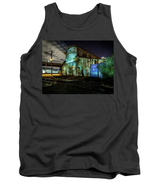 Old Tacoma Industrial Building Light Painted Tank Top
