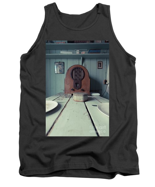 Tank Top featuring the photograph Old Time Kitchen Table by Edward Fielding
