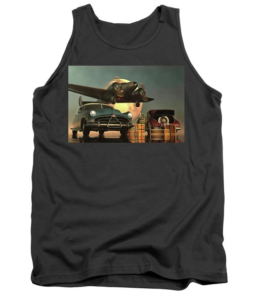 Old-timers With Airplane Tank Top