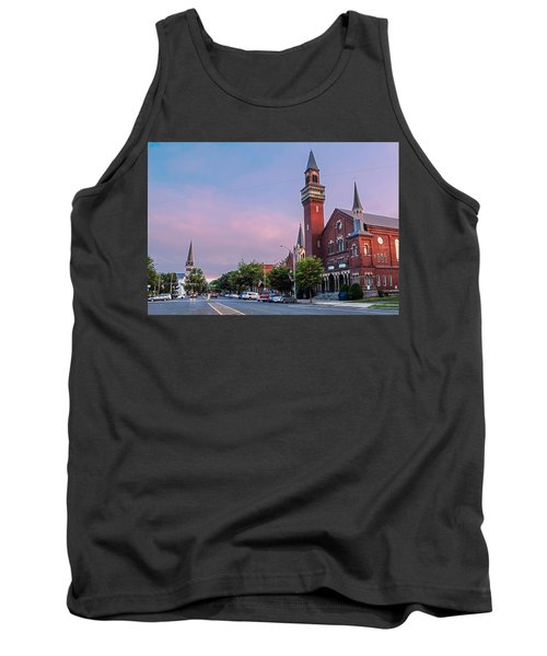 Old Town Hall Sunset Sky Tank Top