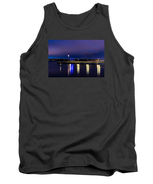Old Town Pier During The Blue Hour Tank Top