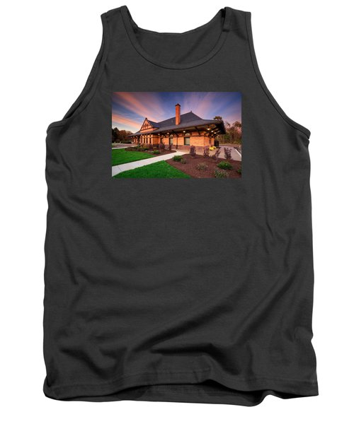 Old Train Station Tank Top by Emmanuel Panagiotakis