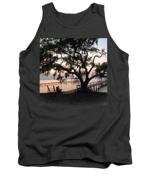 Tank Top featuring the photograph Old Tree At The Dock by Christin Brodie