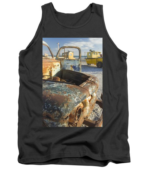 Old Truck In The Beach Tank Top