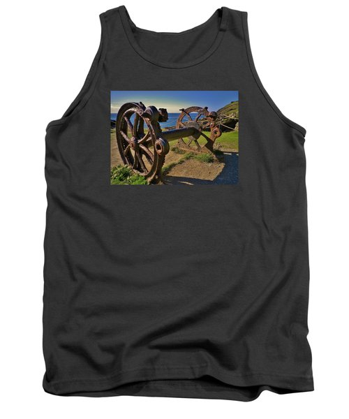 Old Winch Tintagel Tank Top by Richard Brookes