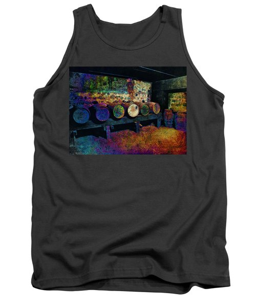 Tank Top featuring the digital art Old Wine Barrels by Glenn McCarthy Art and Photography