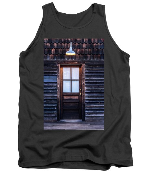 Tank Top featuring the photograph Old Wood Door And Light by Terry DeLuco