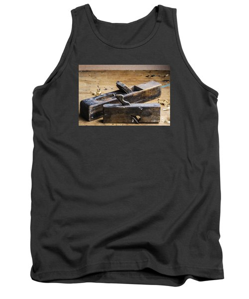 Tank Top featuring the photograph Old Wooden Planes by Trevor Chriss