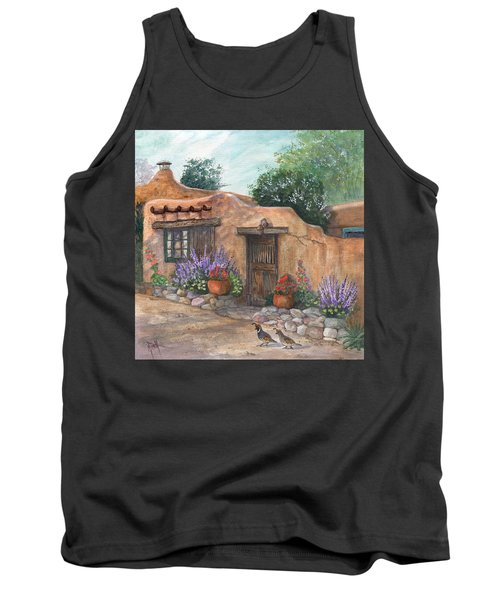 Tank Top featuring the painting Old Adobe Cottage by Marilyn Smith