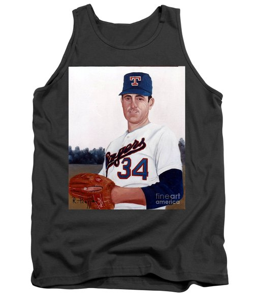 Tank Top featuring the painting Older Nolan Ryan With The Texas Rangers by Rosario Piazza