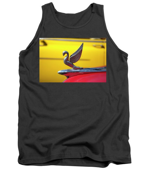 Tank Top featuring the photograph Oldsmobile Packard Hood Ornament Havana Cuba by Charles Harden