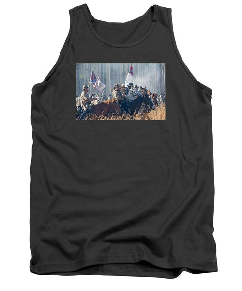Olustee Confederate Charge Tank Top