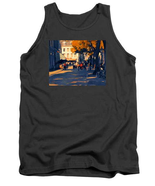 Tank Top featuring the painting Olv Plein Maastricht In Autumn by Nop Briex