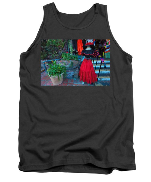 Tank Top featuring the photograph Olvera Street Los Angeles by Ram Vasudev