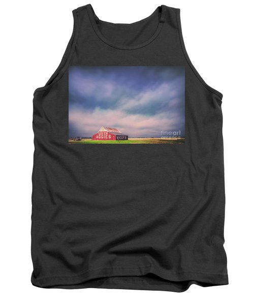 Ominous Clouds Over The Aggie Barn In Reagan, Texas Tank Top
