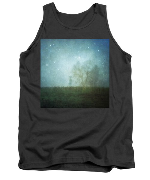 On A Starry Night, A Boy And His Tree Tank Top