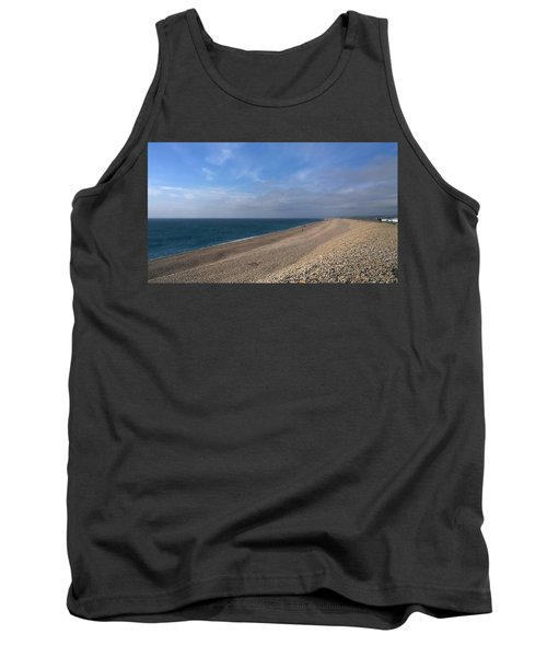 Tank Top featuring the photograph On Chesil Beach by Anne Kotan