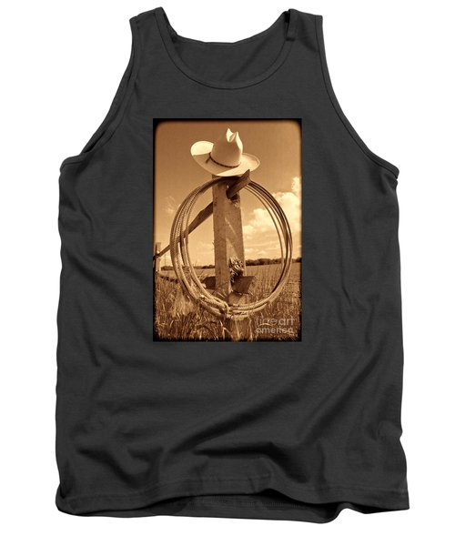 On The American Ranch Tank Top by American West Legend By Olivier Le Queinec