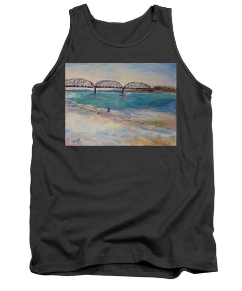 On The Bank Tank Top by Helen Campbell