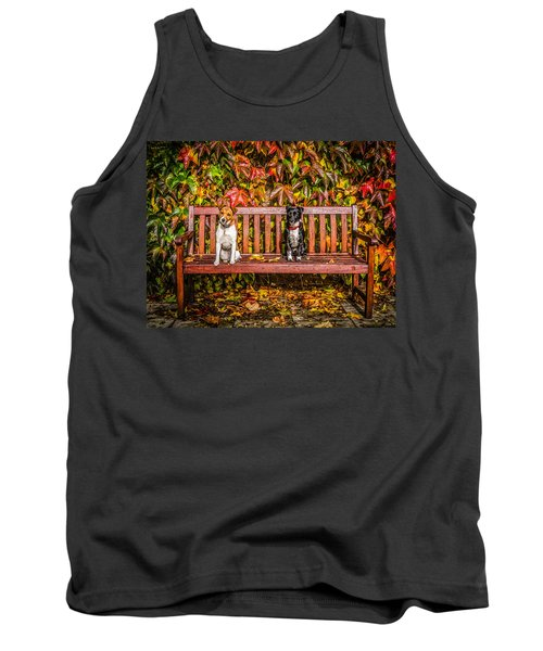 Tank Top featuring the photograph On The Bench by Nick Bywater
