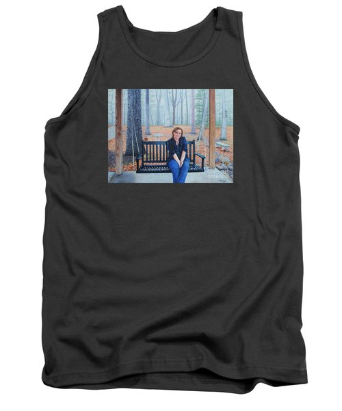 Tank Top featuring the painting On The Porch Swing by Mike Ivey