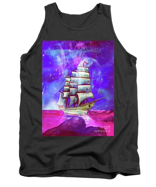 On The Sea At Sunset Tank Top