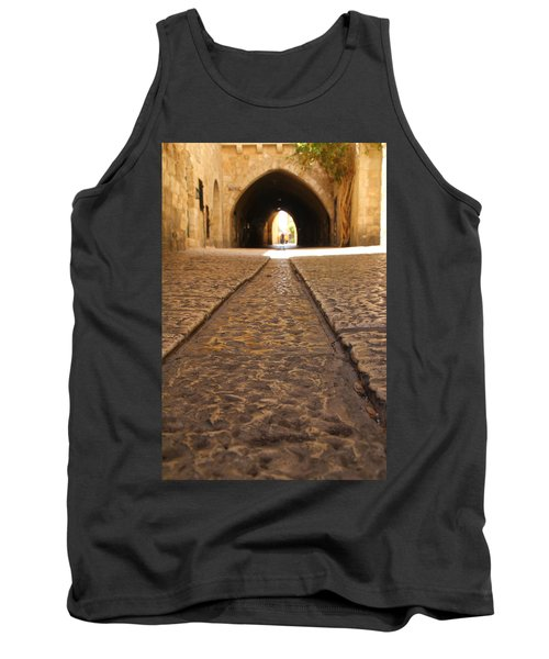 Tank Top featuring the photograph On The Way To The Western Wall - The Kotel - Old City, Jerusalem, Israel by Yoel Koskas