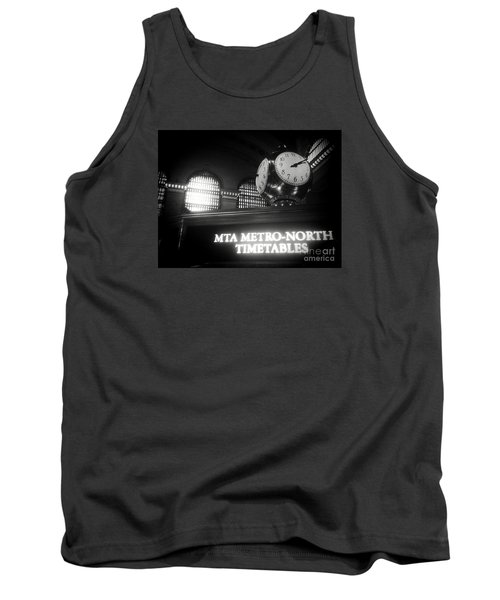 On Time At Grand Central Station Tank Top by James Aiken