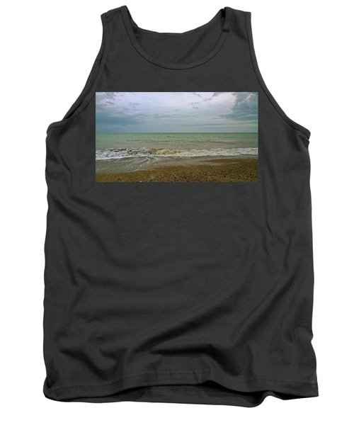 Tank Top featuring the photograph On Weymouth Beach by Anne Kotan
