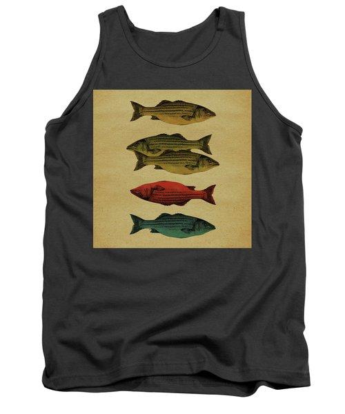 One Fish, Two Fish . . . Tank Top by Meg Shearer