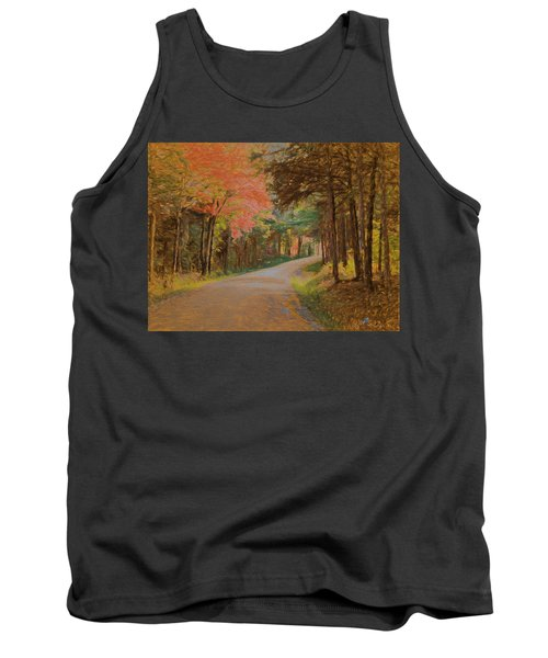 Tank Top featuring the digital art One More Country Road by John Selmer Sr