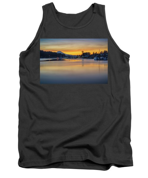One Morning In Gig Harbor Tank Top by Ken Stanback