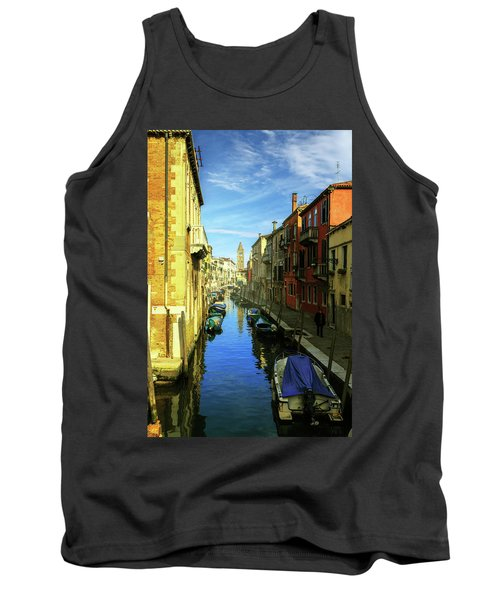 one of the many Venetian canals on a Sunny summer day Tank Top