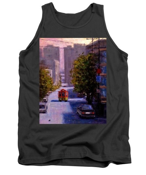 One Quiet Afternoon In San Francisco.. Tank Top by Cristina Mihailescu