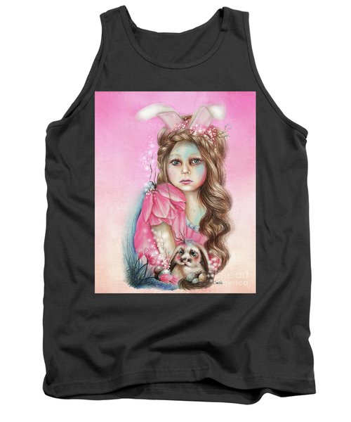 Only Friend In The World - Bunny Tank Top by Sheena Pike