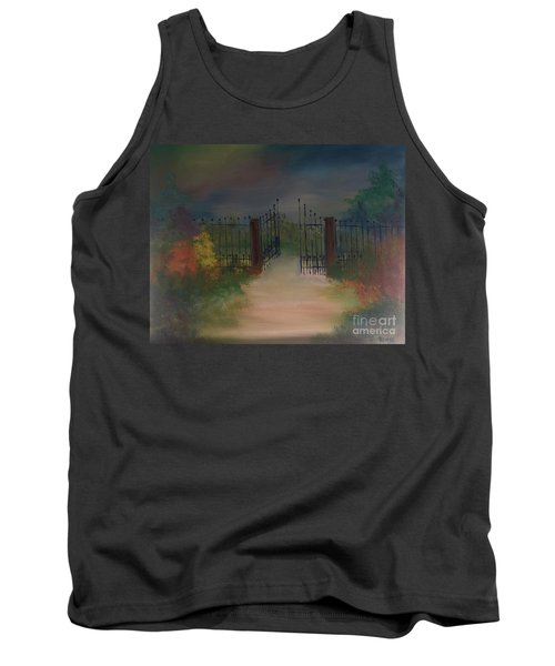 Tank Top featuring the painting Open Gate by Denise Tomasura