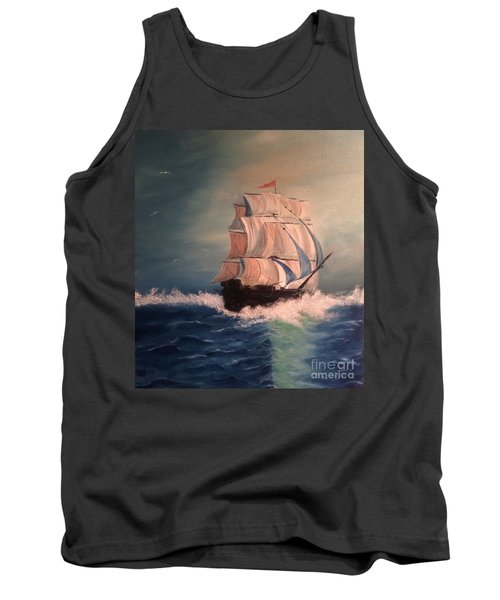 Tank Top featuring the painting Open Seas by Denise Tomasura