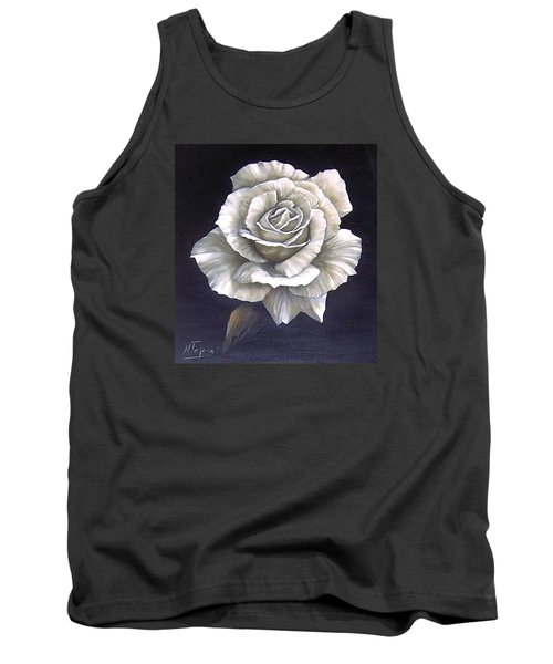 Opened Rose Tank Top by Natalia Tejera