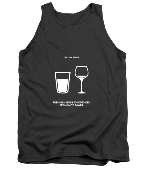 Optimism To Power William James Quotes Poster Tank Top