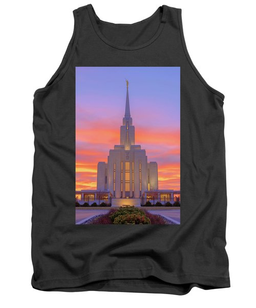 Tank Top featuring the photograph Oquirrh Mountain Temple IIi by Chad Dutson