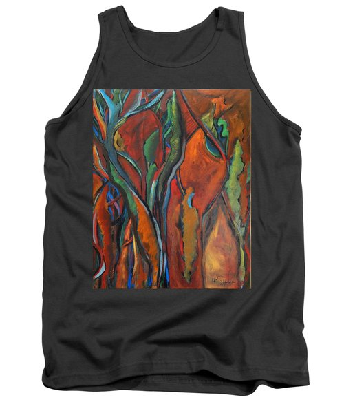Orange Abstract Tank Top