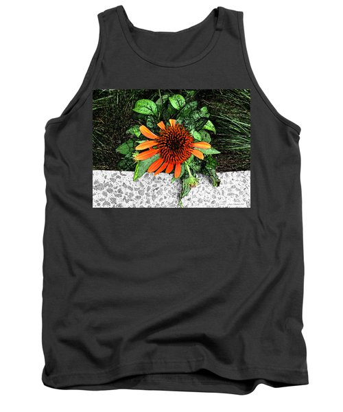 Tank Top featuring the photograph Orange At Highline Nyc by Joan  Minchak