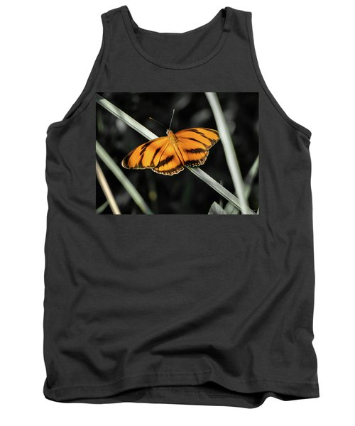 Orange Butterfly Tank Top
