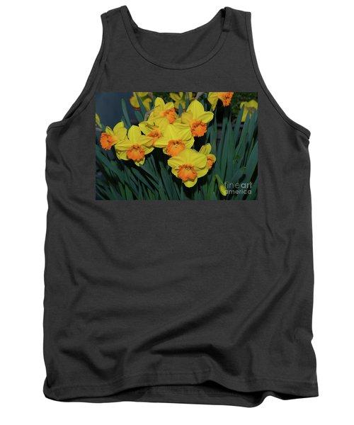 Orange-centered Daffodils Tank Top