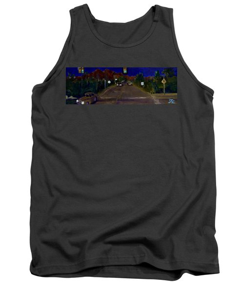 Tank Top featuring the painting Orange Grove And La Canada by Julie Todd-Cundiff