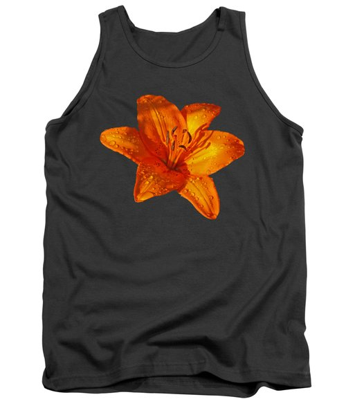 Orange Lily In Sunshine After The Rain Tank Top by Gill Billington