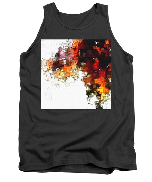 Orange Nordic / Scandinavian Minimalist Art Tank Top