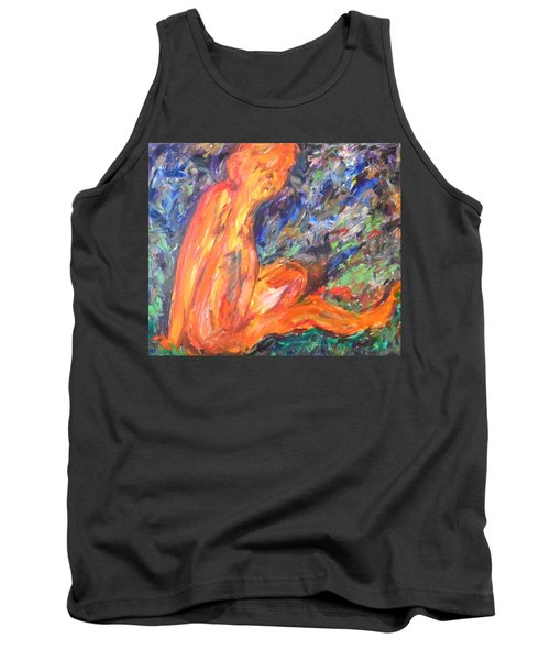 Tank Top featuring the painting Orange Nymph by Esther Newman-Cohen